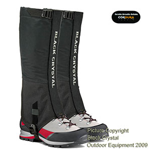 Black Crystal Hiking Ski Snow Gaiters