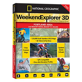 photo: National Geographic Weekend Explorer 3D - Portland Area CD-ROM us pacific states map application