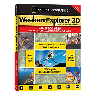 National Geographic Weekend Explorer 3D - San Diego Area CD-ROM
