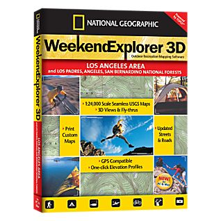 photo: National Geographic Weekend Explorer 3D - Los Angeles Area CD-ROM us pacific states map application