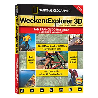 photo: National Geographic Weekend Explorer 3D - San Francisco Bay Area CD-ROM us pacific states map application