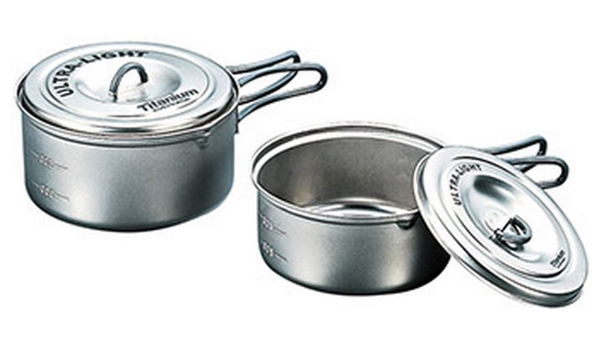 Evernew Ti Ultralight Pot Set