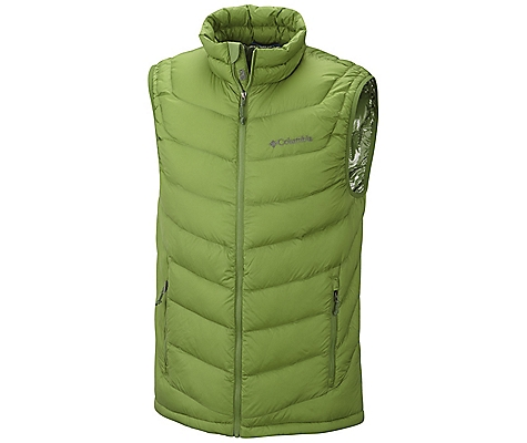 photo: Columbia Men's Powerfly Down Vest down insulated vest
