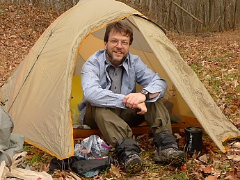 Patman in his Big Agnes
