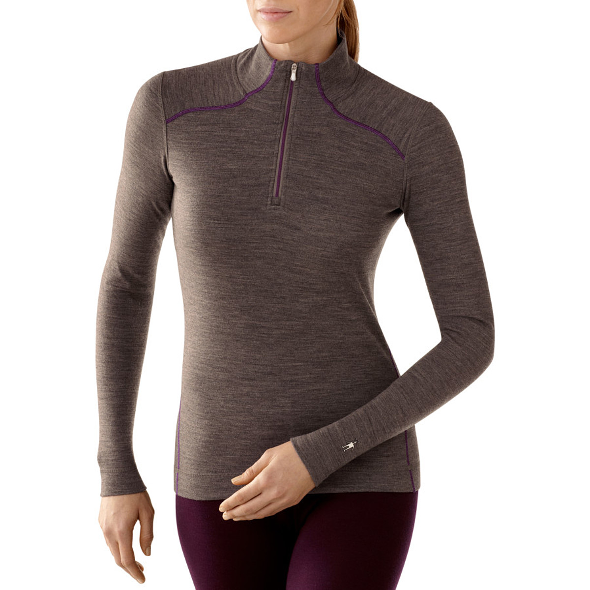photo: Smartwool Women's Midweight Zip T base layer top