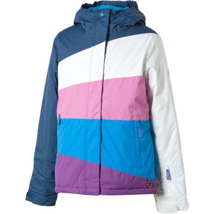 photo: Roxy Pink Flake Jacket snowsport jacket