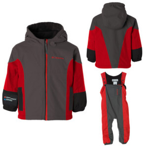 photo: Columbia Boys' Phoom-Shoom Set kids' snowsuit/bunting