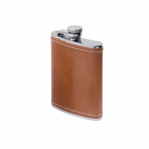 photo: GSI Outdoors Glacier Stainless Leather Wrapped Flask water bottle