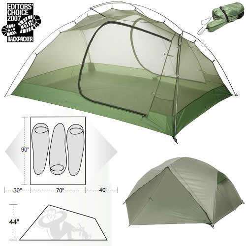 photo: Big Agnes Emerald Mountain SL3 three-season tent
