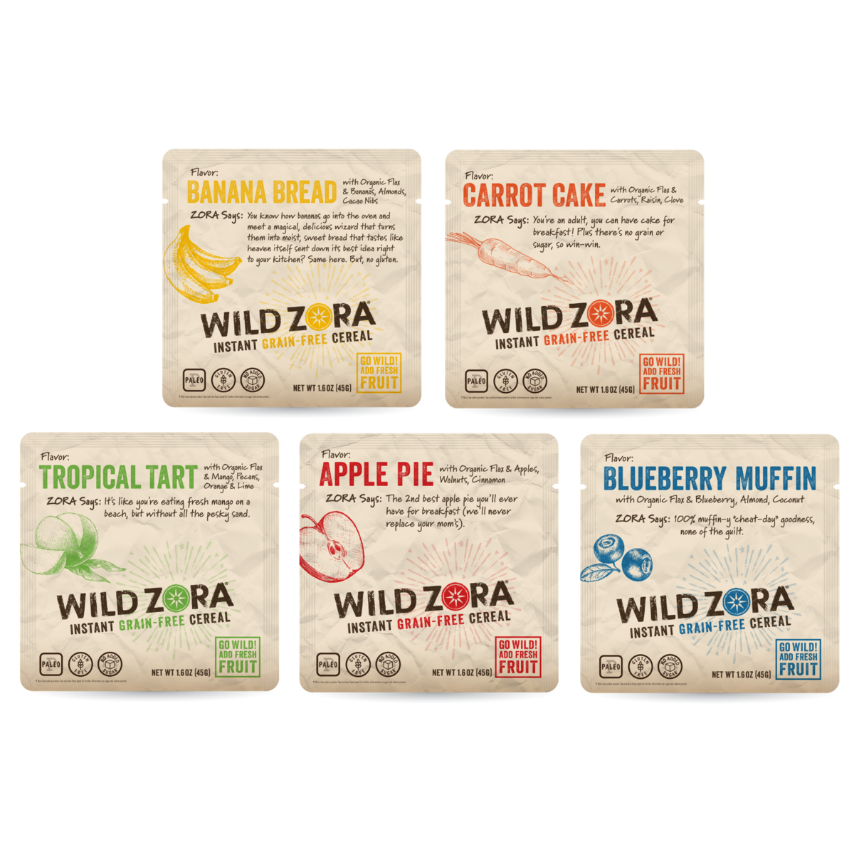 photo: Wild Zora Instant Grain-Free Cereal breakfast
