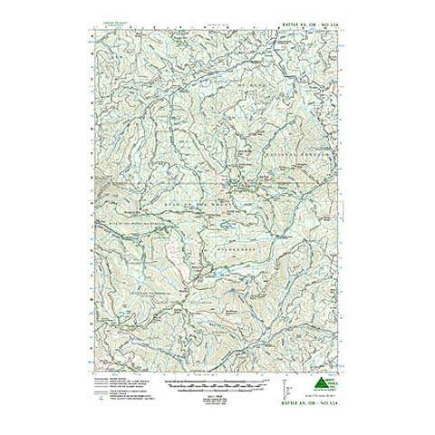 Green Trails Maps Battle Ax Oregon