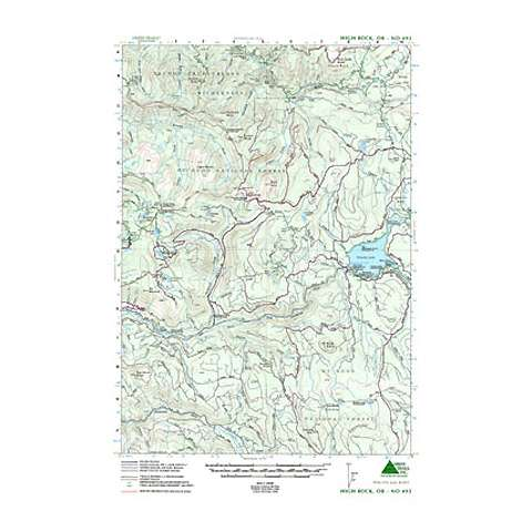 photo: Green Trails Maps High Rock Oregon us pacific states paper map