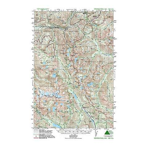 photo: Green Trails Maps Stevens Pass Washington Map us pacific states paper map