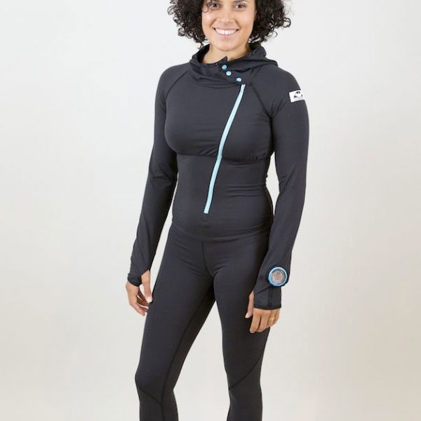 photo of a Corbeaux one-piece base layer