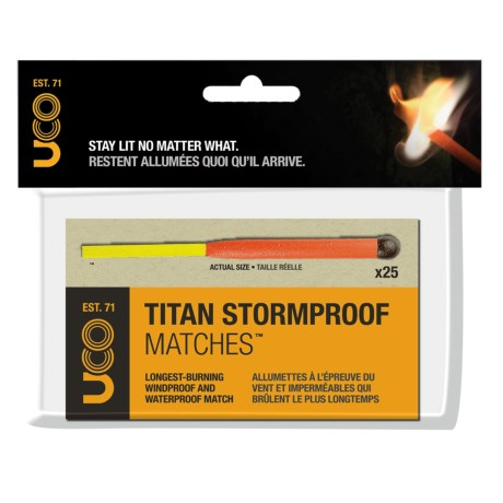 photo: UCO Titan Stormproof Matches fire starter