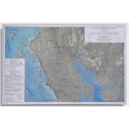 photo: Little River Enterprises Custom Correct Ozette Beach Loop Map us pacific states paper map