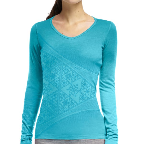 photo: Icebreaker BodyFit 200 Oasis V Printed base layer top