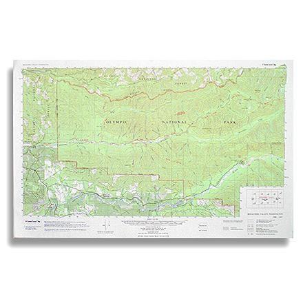 photo: Little River Enterprises Custom Correct Bogachiel Valley Map us pacific states paper map