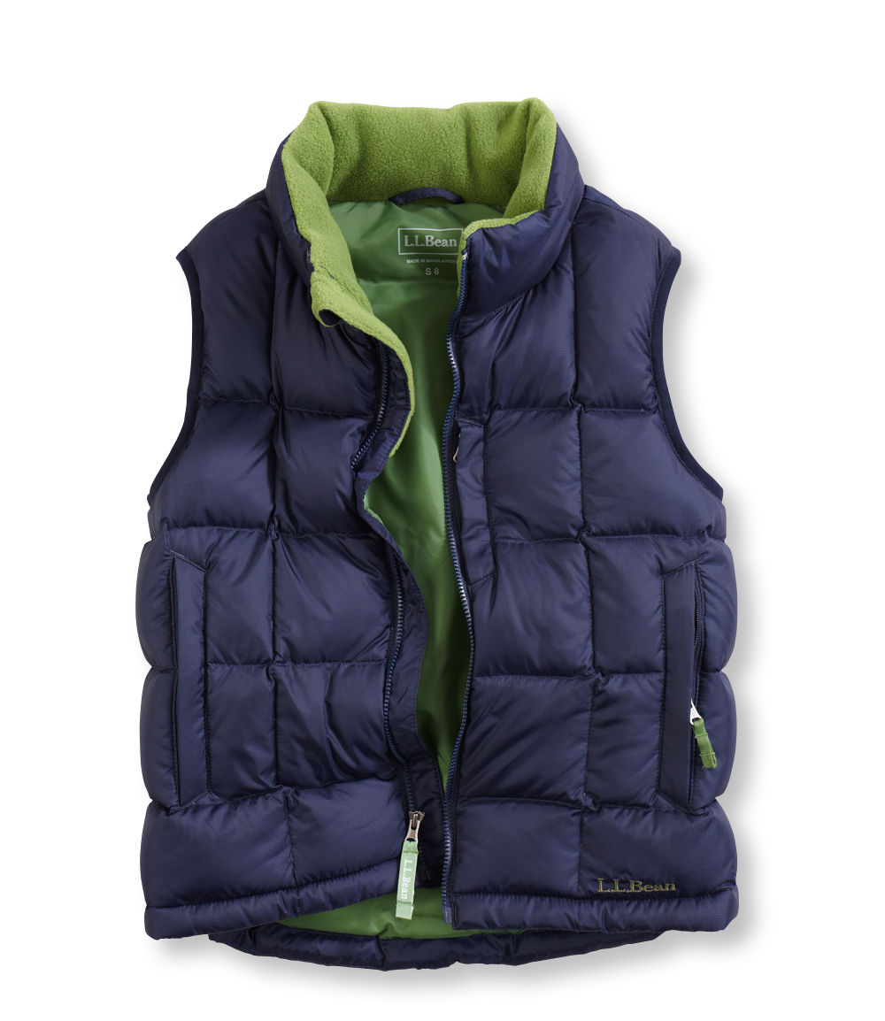 photo: L.L.Bean Boys' Goose Down Vest down insulated vest