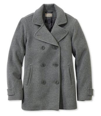 photo: L.L.Bean Classic Lambswool Peacoat wool jacket