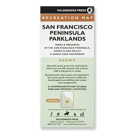 photo: Wilderness Press San Francisco Peninsula Parklands Map us pacific states paper map