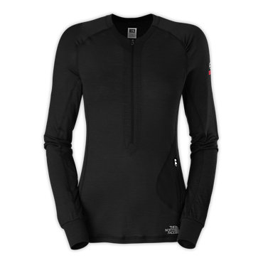 photo: The North Face Women's Long-Sleeve Litho 1/4 Zip base layer top