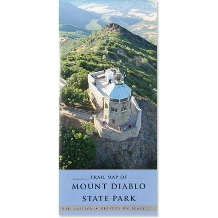 photo: Mount Diablo Interpretive Association Mount Diablo State Park Trail Map us pacific states paper map