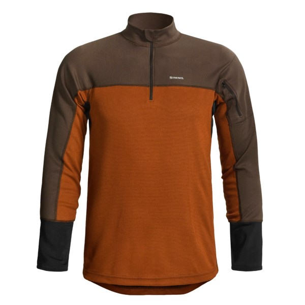 photo: Simms RiverTek Zip Top Midweight base layer top