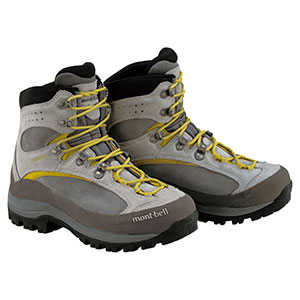 photo of a MontBell mountaineering boot