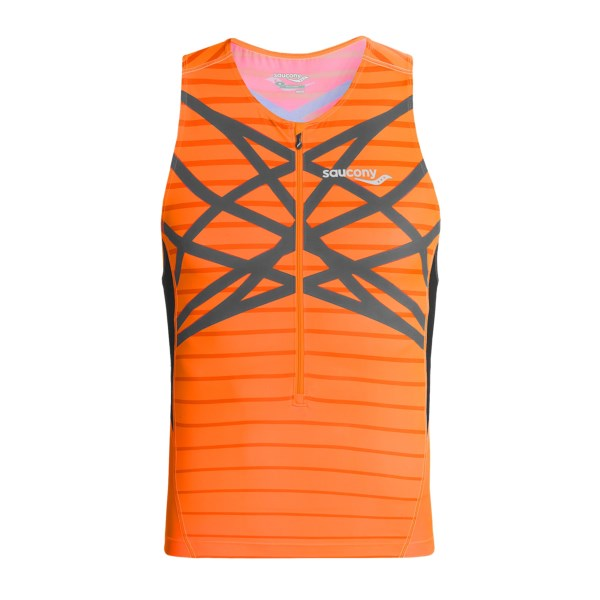 photo: Saucony Tri Zip Tank short sleeve performance top