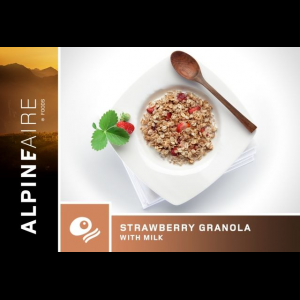 Natural High Strawberry Granola with Milk