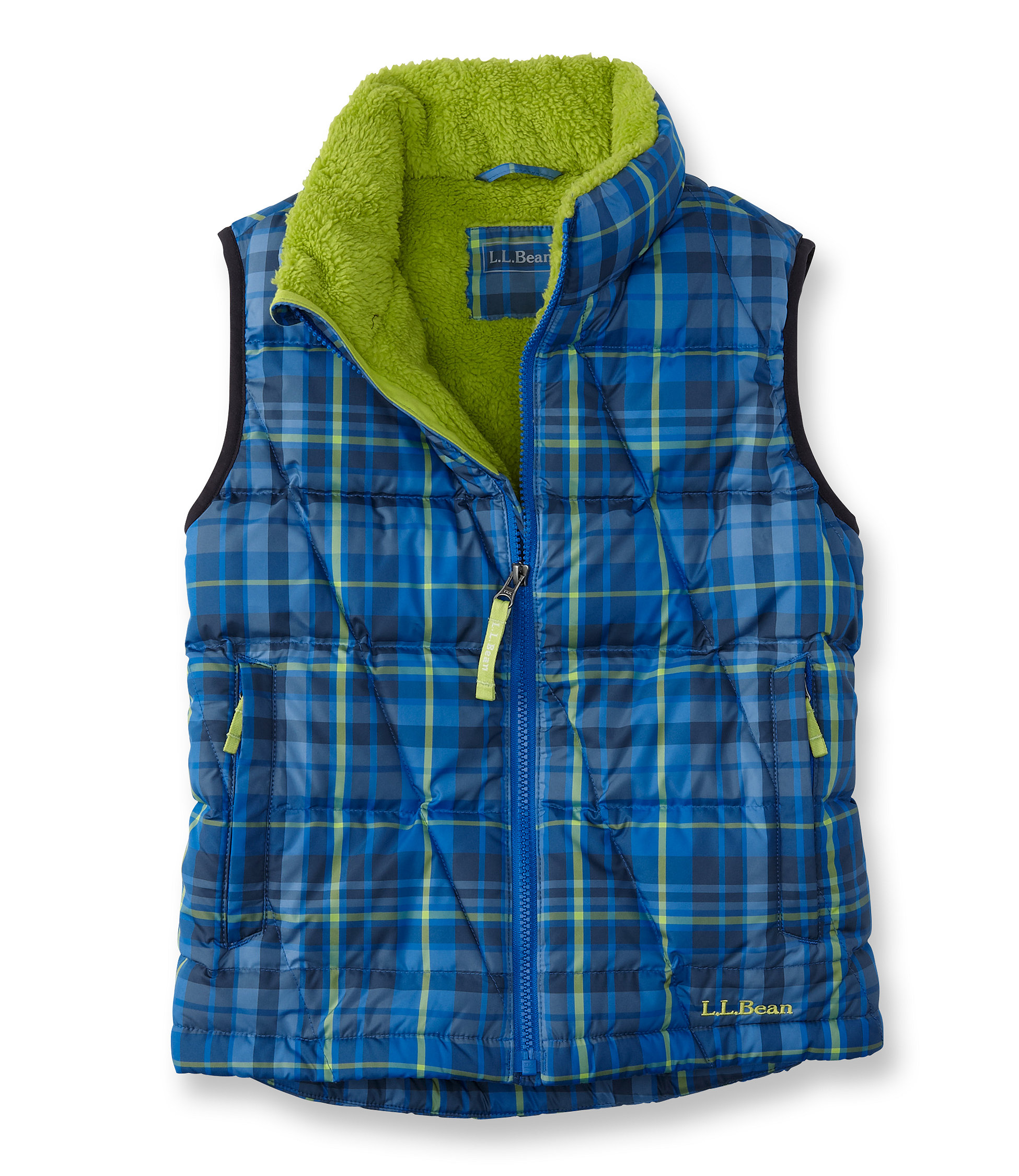 L.L.Bean Bean's Down Vest, Plaid