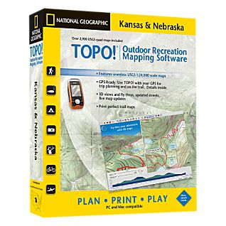 photo: National Geographic TOPO! Kansas & Nebraska CD-ROM us midwest map application