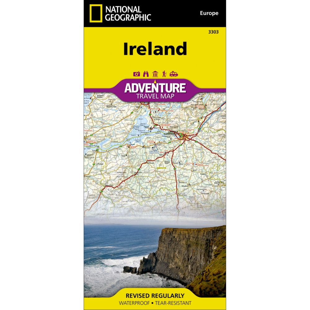 photo: National Geographic Ireland Adventure Map international paper map