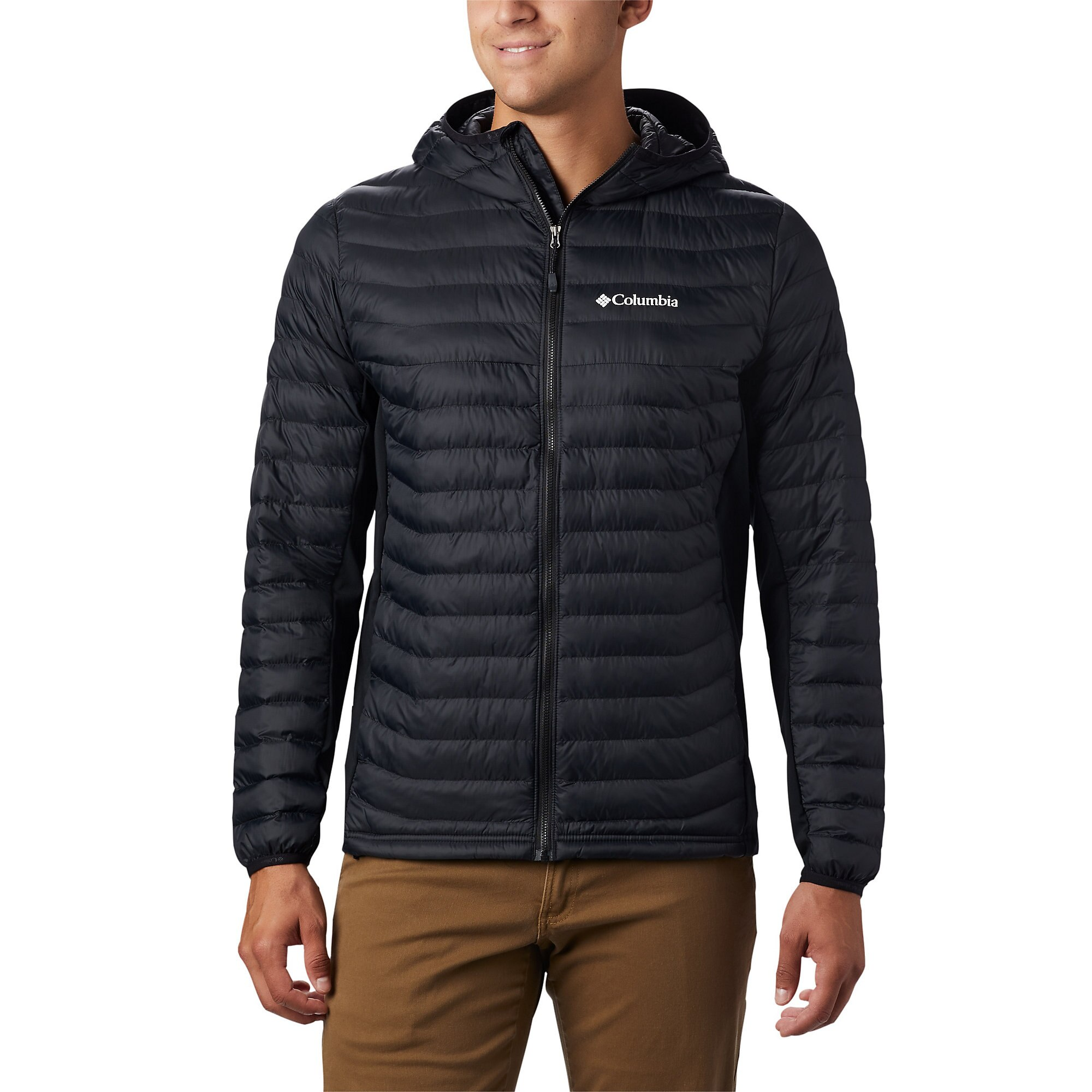 photo: Columbia Men's Powder Pass Hooded Jacket synthetic insulated jacket