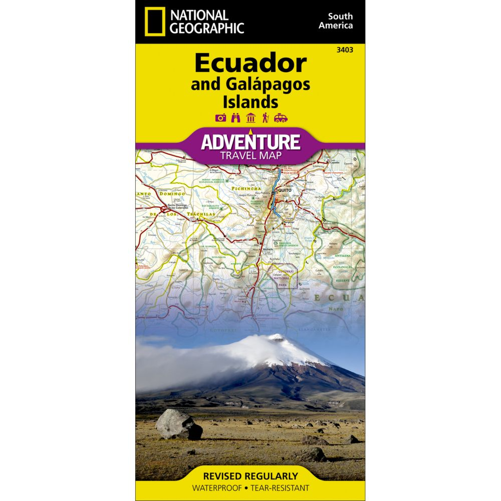 photo: National Geographic Ecuador and Galapagos Adventure Map international paper map