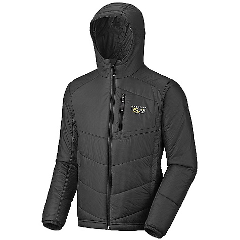 photo: Mountain Hardwear Men's Hooded Compressor PL Jacket synthetic insulated jacket