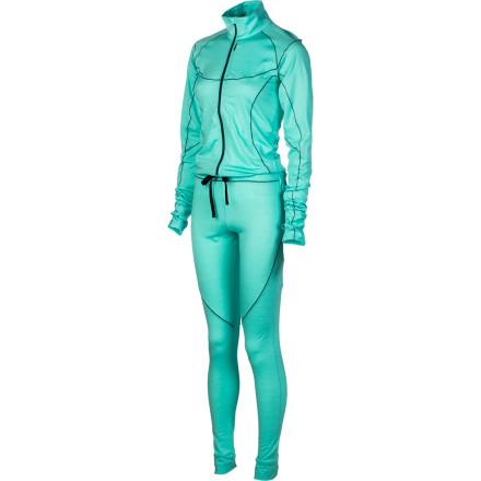 photo: Stoic Women's Merino 200 1-Z Suit one-piece base layer