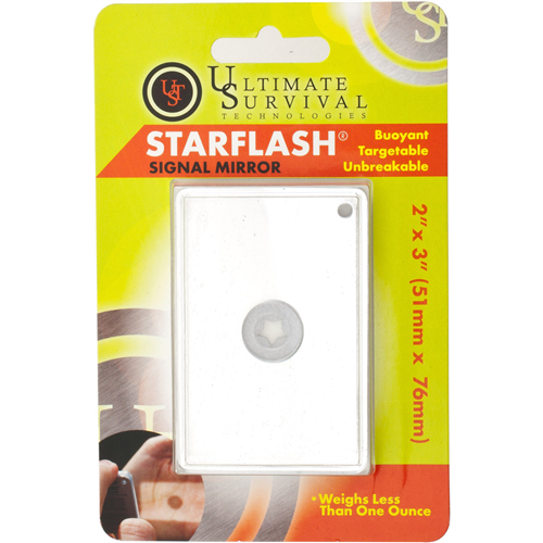 photo: Ultimate Survival Technologies StarFlash signal mirror/flag