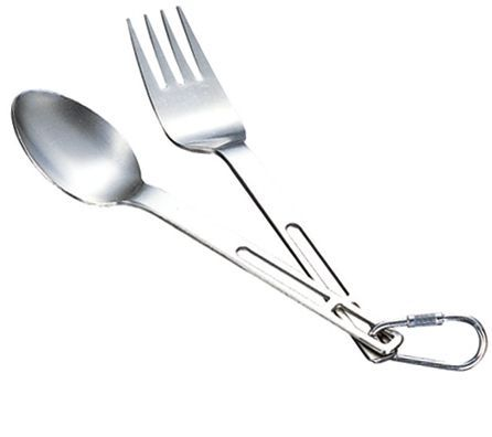 photo: Evernew Ti Spoon and Fork Set utensil