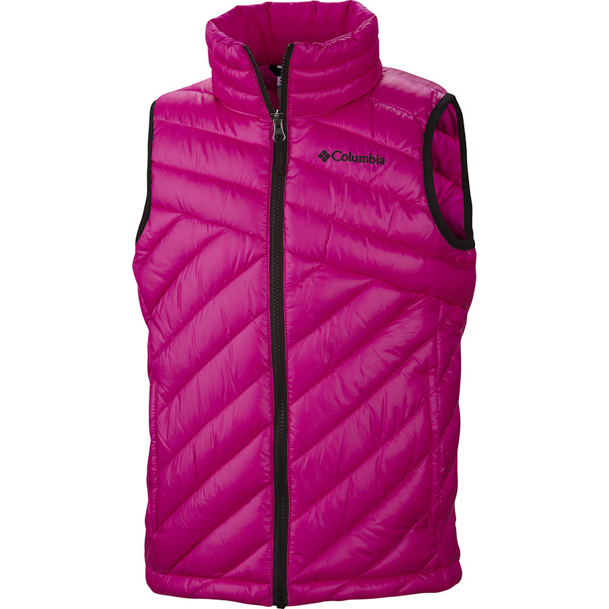photo: Columbia Girls' Powder Lite Vest synthetic insulated vest