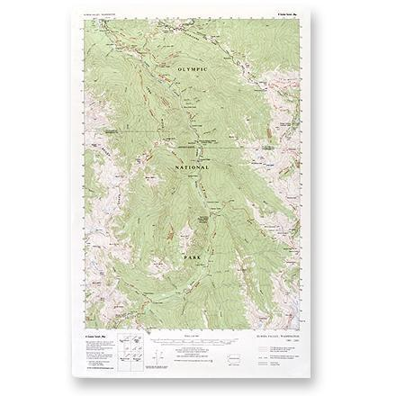 photo: Little River Enterprises Custom Correct Elwha Valley Map us pacific states paper map