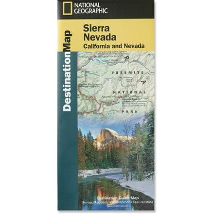 National Geographic Sierra Nevada Destination Map