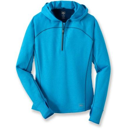 photo: REI Airflyte Quarter Zip Hoodie long sleeve performance top