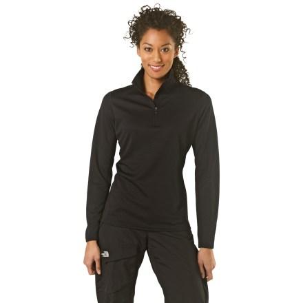 photo: REI Women's Midweight Polartec Power Dry Zip-T base layer top