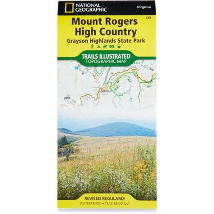 National Geographic Trails Illustrated Mount Rogers High Country Map