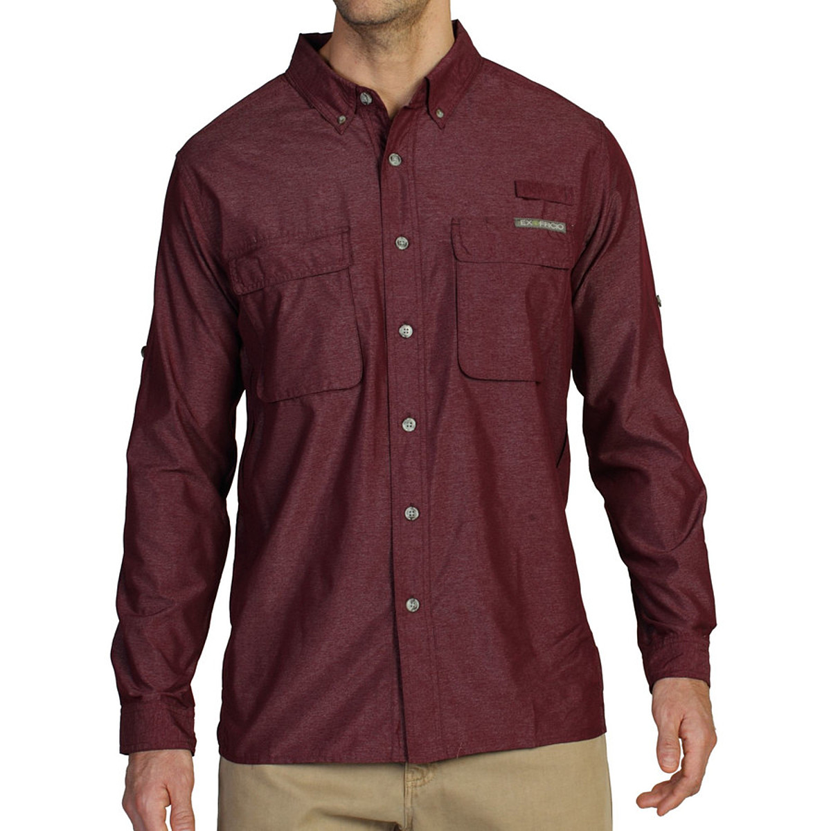 photo: ExOfficio Men's Air Strip Lite Long Sleeve Shirt hiking shirt