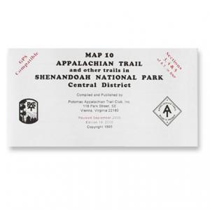 Appalachian Trail Conservancy Shenandoah National Park Map-Central District