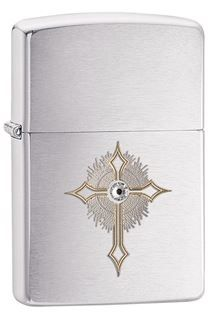 photo: Zippo Brushed Chrome Lighter fire starter