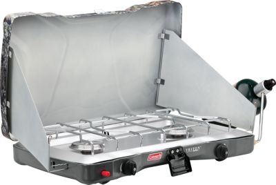 photo: Coleman 2-Burner Camp Stove liquid fuel stove